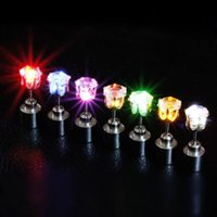 Light Glowing LED Earrings Ear Drop Crystal Pendant Light up...