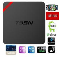 T95N Mini MX+ Amlogic S905X Android TV BOX Kodi16. 1 4K Live ...