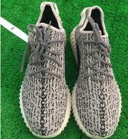 gift(sock+ keychain)Boost 350 PU shoes Oxford Tan black man w...