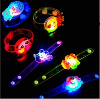 60pcs Flash LED Lighting Children Kids Bracelet Wrist Band B...