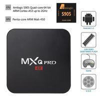 MXQ Pro Android TV Box Amlogic S905 Chipset Kodi 16.1 Plein Loaded Android 5.1 Lollipop OS Quad Core Joueurs 1G 8G 4K Google Streaming Media