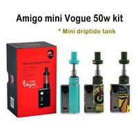 Amigo Mini Vogue 50W Kit VV Mod avec 1200mAh Built-in Batterie Avec Mini Riptide réservoir 1200mAh Built-in Battery Livraison rapide