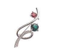 1 PCS Fashion Rhinestone Ribbon Brooch ( 2 colors ) free shi...