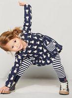 2107 Spring Autumn Children Cotton Loose Long T- Shirt Stripe...