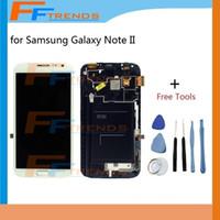 Pour Samsung Galaxy Note 2 II LCD écran tactile numériseur avec boîtier avant N7100 N7105 i317 i605 L900 T889 R950