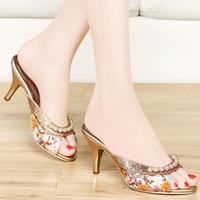 Quality Assurance Woman Rhinestone Slippers Fashion Pearl Ac...