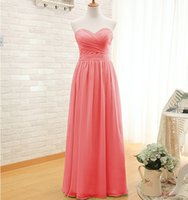 Long Chiffon Bridesmaid Dress 2016 Pleated Formal Dress For ...