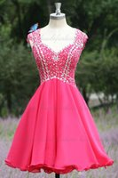 Free Shipping Real Image Sparkle Homecoming Dresses Short Pa...