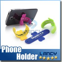Silicone Stand Holder Universal Portable Mount Portable Touch U hloder One Touch Stander pour iPhone Samsung HTC Sony iPad Tablet