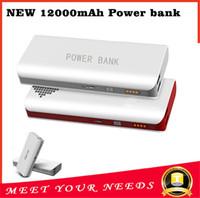 Продажа Power Bank 12000mAh безопасности Батарея Зарядное устройство USB портативный аварийного для мобильных iphone7 Samsung S6 Android мобильного телефона дешевые зарядные устройства