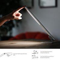 dodocool 5W staccabile portatile dimmerabile 20 Desk LED lampada di lettura Light Touch Sensitive ricaricabile controllo 4500K bianco freddo d'argento DA95