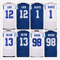 Factory Outlet- Elite Colts Mens Jerseys Football Jerseys #12...