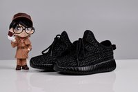 Kids 350 Pirate Black Turtle Dove Running Shoes Kanye West Y...