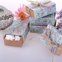 "FREE SHIPPING 100PCS "" Around the World"" Map Favor ..."