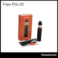 Authentic SMOK Vape Pen Kit 22 Starter avec indicateur LED Capacité 1650mAh Battery 100% Original