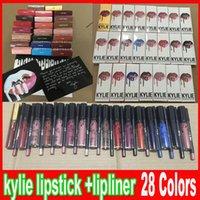 Последние 28 стилей Дженнер LIP KIT Lipliner Контур для губ карандаш Velvetine жидкий штейн губной помады красного бархата макияж блеск для губ