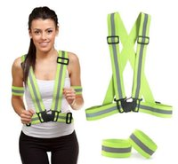 Reflective Vest with Set of Reflective Bands Provides High V...