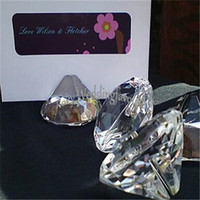 DHL FREE SHIPPING+ 50pcs Crystal Diamond Place Card Holder We...
