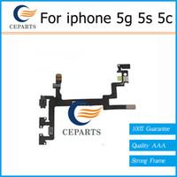 Nouveau Pour iPhone 5C 5 5G5S 5GS iphone5S Interrupteur général ON / OFF Mute Touches Volume Flex ruban câble Pièces de rechange