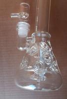 frais bongs en verre de roue d'eau double filtration compensation 14.4mm nid d'abeille recycleur verre d'eau tuberie verre de roue bong livraison gratuite