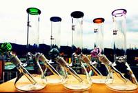Bécher base de l'eau bong tuyaux bong verre bongs bac à glace en verre épais pour fumer 14-18 downstem 14mm bol 10.5
