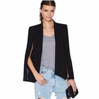 Vintage Shawl Collar Split Sleeve Cloak Blazer Cape New Wome...