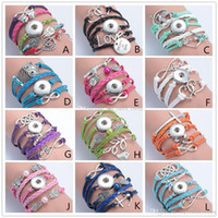 Mixed 12 Style Fashion Jewelry Wholesale Leather Infinity No...
