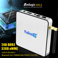 2GB 32GB YOKATV KB2 S912 TV Box android 6. 0 OTA update Kodi ...