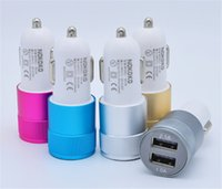 Best Metal Aluminium Dual USB Port Car Charger Universal 2 p...