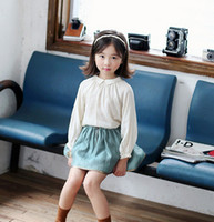 2016 Autumn Cotton Soft Girls Shirts Long Sleeve Princess Sh...