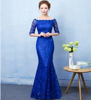 Half Sleeve Lace Bridesmaid Dress With Bateau Neck Lace Up 2...