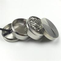Grinder 55mm 4 couches grinder en métal avec 5 couleurs Zicn alliage cnc dents tabac meuleuse pour fumer des conduites d'eau de meuleuses colorées