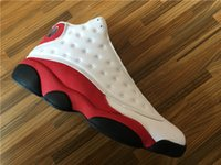 DHL Shipping Retro 13 Chicago White Red With Real Carbon Fib...
