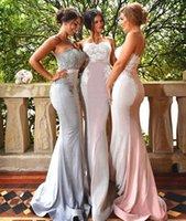 Sexy Милая Кружева невесты платья Русалка рукавов Backless +2017 Sweep Поезд Длинные свадебные Гостевая горничной честь Gowns