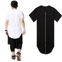Wholesale- Hip Hop Men t shirt tyga Cool Oversized Side Zippe...