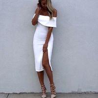 2016 new fashion Sexy Off The Shoulder Bandage Dress white b...