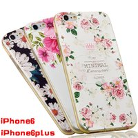 Fashion Luxury Flower Painted 3D Relief For Apple iPhone 6s ...