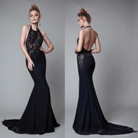 Illusion Beaded Mermaid Evening Dresses Sexy Backless Party ...