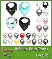 Ins Baby Bandana Bavettes Baby Infant Fruit Burp Tissu Coton Terry Bandana Bibs Saliva Serviette Triangle Head Scarf Long Absorbent