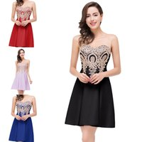 Cheap Lace Beaded Homecoming Dresses 2016 Sexy Applique Holl...
