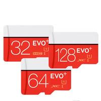 EVO más 128GB 64GB 32GB Class10 2016 Nueva tarjeta de la llegada UHS-1 MicroSDHC TF SD para los androides accionó las cámaras de SmartPhones Arriba 80MB / s EVO +