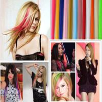Colorido Popular Colorido Cabelo Produtos Clip Hot Sales Novo Moda Popular Colorido Sintético Clip Em Extensões De Cabelo 2704