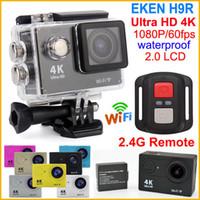 камера WiFi Action Ultra HD 4K 1080P / 60fps 2.0 LCD 170 объектив шлем Cam Водонепроницаемая камера спорта Пульт дистанционного управления EKEN H9 H9R