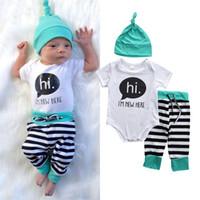 2016 winther autumn baby sets 3PCS cotton Newborn kids Boys ...