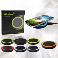 Galalxy S6 Ци Беспроводное зарядное устройство для зарядки Mini Pad для Qi-устройств iphone6 рода отклонениями плюс Samsung Edge, с розничным пакетом Аксессуары для мобильных телефонов