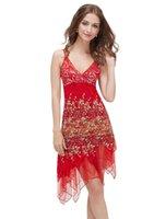 Free Shipping Party Dresses Spaghetti A Line Petal Power Kne...