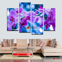 HD Печать холст мечтательный Фиолетовый цветок стены искусства Картина Домашнее украшение Гостиная Печать холст настенной живописи рисунок Печать на холсте
