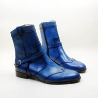 Men' s boots Custom handmade shoes Genuine calf leather ...