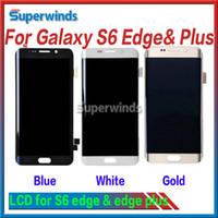 Nouveau Original Pour Samsung Galaxy S6 Edge Écran LCD et Digitizer Écran tactile pour Samsung Galaxy S6 Edge Plus Bleu Or blanc Or