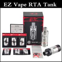Аутентичные UD EZ RTA Rebuildable Танк RBA Форсунка Топ наполнения дизайн 4ml кан Vape RTA Распылитель SS / Black с помощью DHL